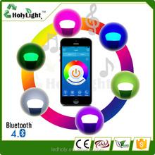 New flux bluetooth wifi controlled led color smart led light bulb 7w e27 rgbw