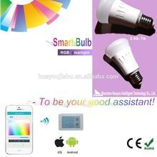 Discount 2014 wholesale like Philips hue bulb smart zigbee led light bulb 8w 500ml 90ml/w AC85-265v
