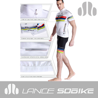most innovative custom technical apparel for cyclists Gripper elastic Very Stretchy for compression and comfort riding sets
