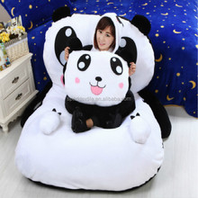 2015 hot selling lovely cartoon plush panda bed doll furniture bed