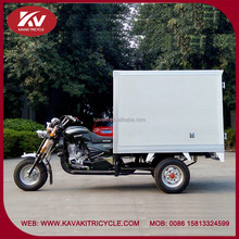 Wholesale fashion Africa 200cc air-cooled white cargo tricycle with cabin