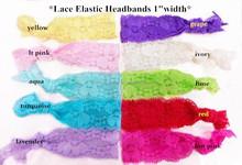 Lace ealstic headband 1-width , headwrap by the yard
