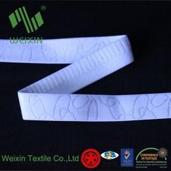 Spandex Nylon woven jacquard elastic for bra srtap