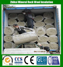 50mm thick Fire Insulation rock wool / Wire mesh Rock wool Blankets Cheap