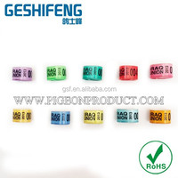 500pc free shipping free color 8mm aluminum with plastic ring unique design with photo own on rings