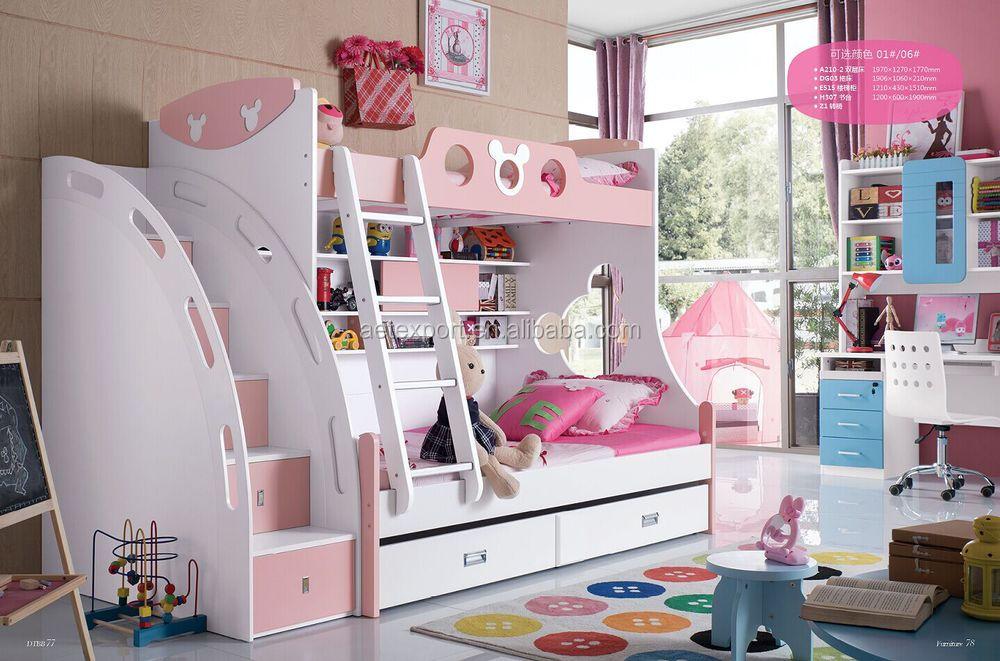 2015 새로운 디자인 아이들 침실 가구 귀여운 아이들 이층 침대가 ...