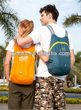 Hot-sale promotion foldable backpack water-resistant polyester fabric