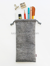 wool felt drawstring bag for teenagers