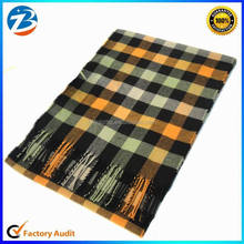 Wholesale Colorful Checks Tassels Long Scarf Shawl For Man and Lady