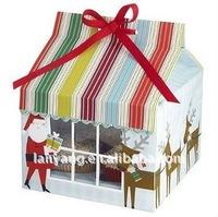 Wholesale and retail Christmas PVC windows Cupcake box for 4 cupcakes