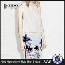 MGOO 2015 New Special Design White Cutout Women Dress OEM/ODM Fashion Sleeveless China Custom Made Women Clothes MA152SKT148