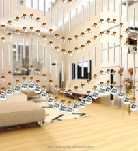 2015 Fashion crystal glass beads curtain for wedding decor hanging door house decoration