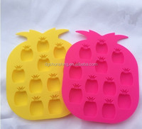 silicone pineapple shaped ice cube tray