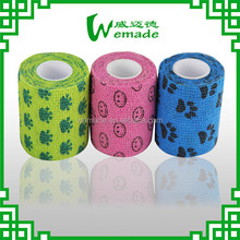 2.5cm/5cm/7.5cm/10cm/15cm Natural Rubber Human/ Animal/ Pet/ Vet/ Horse Elastic Bandage Printed!!!