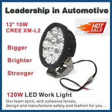 Bigger Brighter Tougher 12X 10W CREE XM-L2 LED Working Driving Light with DRL For off road Truck Mining Heavy Duty Industry