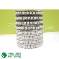 144leds/roll ws2812b led digital strip Black pcb in silicon IP65