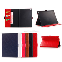 China Supplier Oil Wax Glossy Leather Case for iPad Pro with wake up function, For iPad Pro Case Cover With Sleeping Function