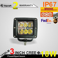 New design 3 inch 18W C REE LED work light for car, trucks suv atv motocycle led driving light