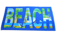 100 cotton Reactive printed high quality beach towel
