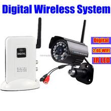 home camera security cctv wireless system 2.4GHz digital outdoor camera IR audio video surveillance wireless system kit