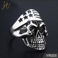Fashion metal stainless steel sandblasted ring