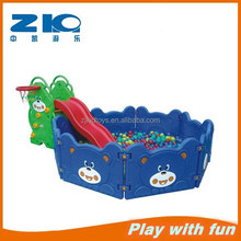 Home kids bear ball pool play set with slide