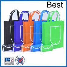 OEM 4C silk printed non woven shopping bags, customized folding shopping bags logo foe your fefernc