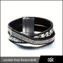 Hot selling diy korea velvet multilayer combined fashion bracelet
