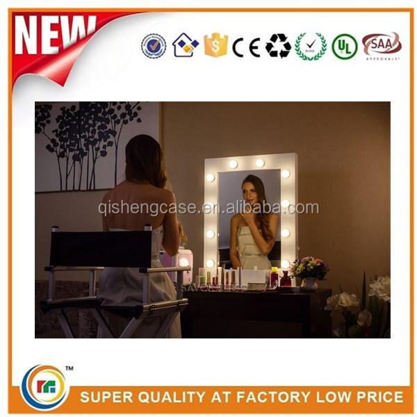 vanity with lights vanity girls makeup artist stylist professional. Black Bedroom Furniture Sets. Home Design Ideas