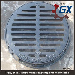 asphalt painted Steel Grating, Trench Cover, Stairs, Fences, Bar grating