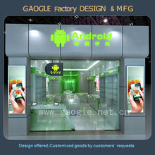 hot sell 2015 mordern glass mobile phone retail store design