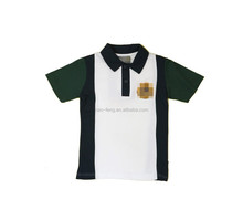 New design polo shirt with embroidery with panel wholesale polo t shirt