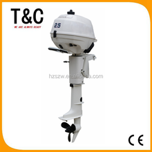 gasoline outboards for fishing boats CE ISO9001-2008 approved 4 stroke 2.5 HP short shaft outboard motor