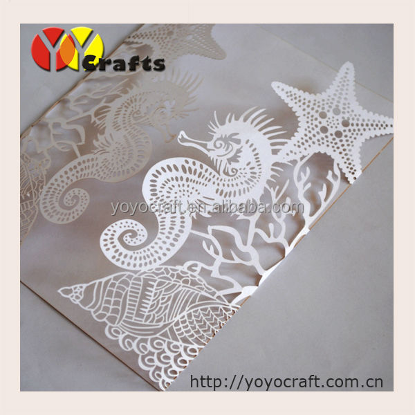 beach style wedding sea horse shaped luxury wedding invitation prices