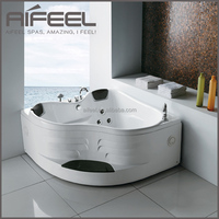 2015 AIFEEL new design freestanding massage acrylic mini indoor hot tub with surf jet