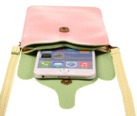 Universal Shoulder Strap PU Leather Mobile Phone Pouch