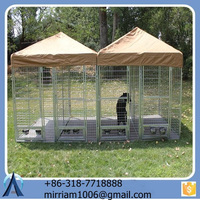 High quality metal or galvanized comfortable double dog kennel / other dog cages