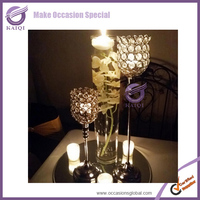 k7036 Top sales! Square crystal flower stand table centerpiece for wedding