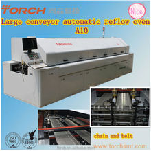 Inline lead-free reflow oven with 10 heating zong made in China