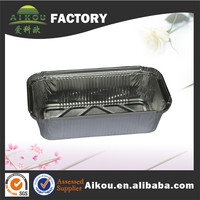Oven safe microwave rectangle aluminum foil travel food containers