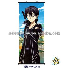 Wholesale Anime Shingeki no Kyojin/Sword Art Online Anime Wall Scroll 40cmx102cm