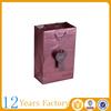 red custom paper packaging cosmetic bag