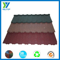 Eco-friendly villa roof tile/stone coated roofing tile Price