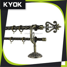 Good quality and cheap price AB color elegant style finial curtain rod
