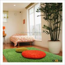 Popular lemon green short pile polyester floor rugs