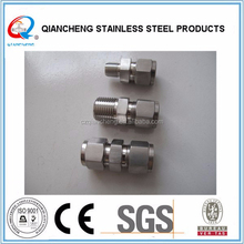"""stainless steel compression/3/8"""" SS compression fitting/S.S. Union 3/8"""""""