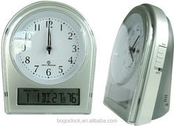 2015 Radio controlled antique alarm table clock