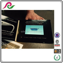 Advertising video card with custom design and video