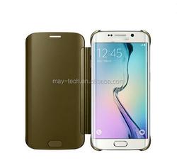 2015 New Design Mirror clear phone case for Samsung Galaxy S6 edge mirror case