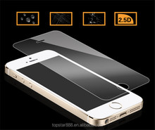 Hot popular 2.5D 9H hardness mobile phone accessory about film tempered glass screen protector for iphone 5s/5c/5